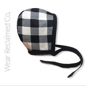 Custom Reversible Plaid Flannel Bonnet. Never worn